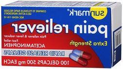 Sunmark Pain Reliever Extra Strength Gelcaps - 100 gelcaps