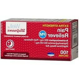Walgreens Pain Reliever Extra Strength PM Gel Tablets, 100 e