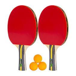 MightySpin  Ping Pong Paddle Set - Premium Table Tennis Rack