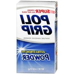 SUPER POLIGRIP Extra Strength Denture Adhesive Powder 1.60 o