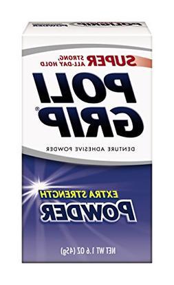 PoliGrip Super Denture Adhesive Powder, Extra Strength 1.6 o