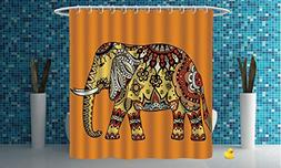 iPrint Polyester Shower Curtain  Polyester Fabric Bathroom S