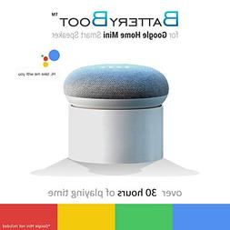 Portable External Battery Base Google Home Mini, Over 40 Hou