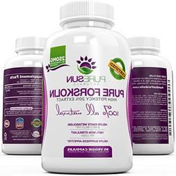 Pure Sun Naturals Pure and Potent Forskolin Weight Loss Supp