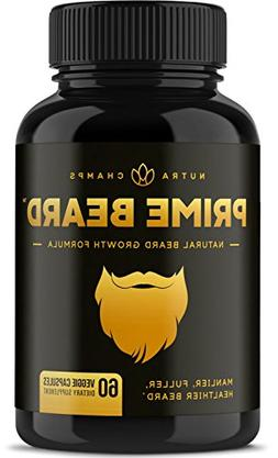 Prime Beard Beard Growth Vitamins Supplement for Men - Thick
