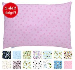 Printed Toddler Pillow  - Hypoallergenic - Machine Washable