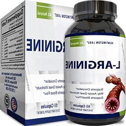 Purest L Arginine Supplement on the Market 60 Capsules – B