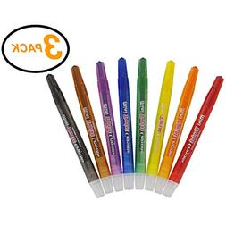 RAM-PRO 8 Mini Twistable Crayons Set - Kit Includes 3 Packs