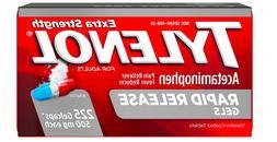 Tylenol Rapid Release Gels Extra Strength 500 mg each 225 Co