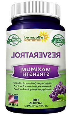 100% Pure Resveratrol - 1000mg Per Serving Max Strength  Ant