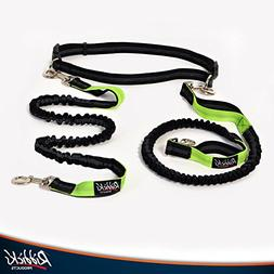 Riddick's Hands Free One & Two Dog Leashes, For Running, W