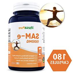 Best SAM-e 1500mg 180 Capsules  - SAMe  to Support Mood, Joi