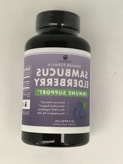 Sambucus Elderberry 400mg Extra Strength Immune 60 Caps Alle