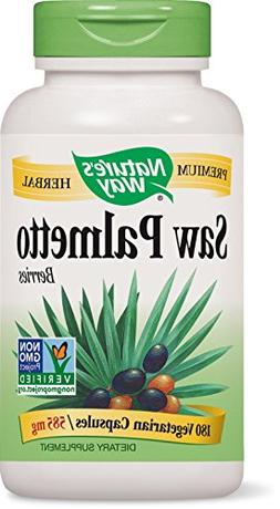 Natures Way Saw Palmetto Berries 180 Capsules