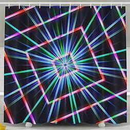 JJUSTING Shiny Aperture Shower Curtain, Waterproof Polyester
