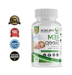 Premium Herbal Sleep Aid Capsules - REM Sleep by Herbal Care