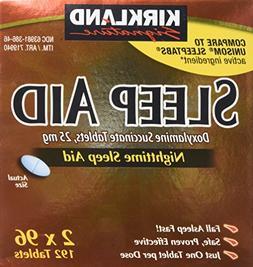 Kirkland Signature Sleep Aid Doxylamine Succinate 25 Mg, 192