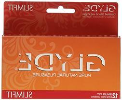 GLYDE Slimfit Premium Small Condom - 12 Snugger Fit Condoms