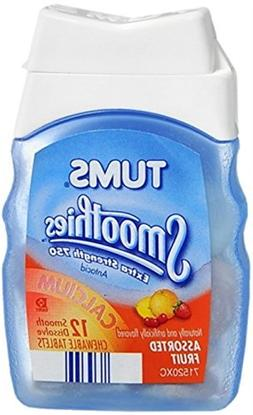 Tums Smoothies Antacid, Extra Strength 750, Assorted Fruit,