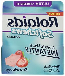 Rolaids Soft Chew Strawbe Size 12 Ct Rolaids Soft Chew Straw