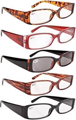 Eyekepper Spring Hinge Reading Glasses Includes Sunglass Wom