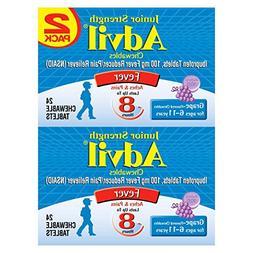 Advil Junior Strength Fever Reducer/Pain Reliever, 100mg Ibu