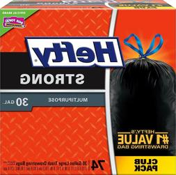 Hefty Strong Large 30 Gallon Trash Bags - Multipurpose - Dra