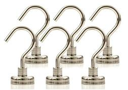 STRONGMAN MAGNETS | 6 PACK OF POWERFUL 44LB NEODYMIUM HEAVY