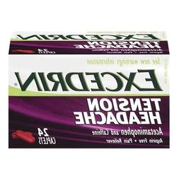 Excedrin Tension Headache Caplets, 24 ea Pack of 2 by Excedr