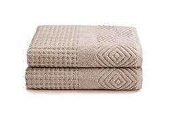 100% Organic Cotton 2 Pack Bath Towels - Best Home Gift by T