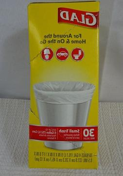 Glad Small Trash Bags, 4 Gallons, 30 ct 2-Pack