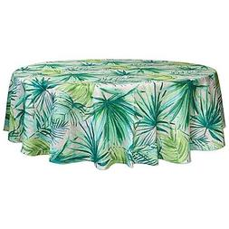 Tropical Delight Palm 60-Inch Round Indoor/Outdoor Tableclot