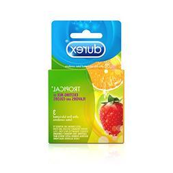 Durex Tropical Flavors Condom, 3 ct