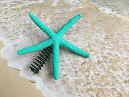 Tropical Turquoise Finger Starfish Christmas Tree Topper