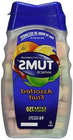 Tums Tums Antacid Plus Calcium Supplement Assorted Fruit, As
