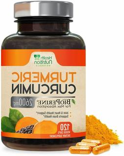 Turmeric Curcumin Extra Strength 95% 2600mg with Bioperine B