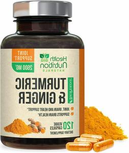 Turmeric Curcumin with Ginger 2600 mg High Absorption Extra