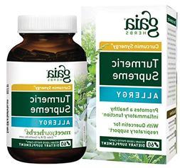 Gaia Herbs Turmeric Supreme Allergy, Vegan Liquid Capsules,