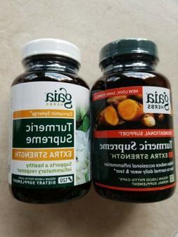 Gaia Herbs Turmeric Supreme Extra Strength 120  Capsules 15y