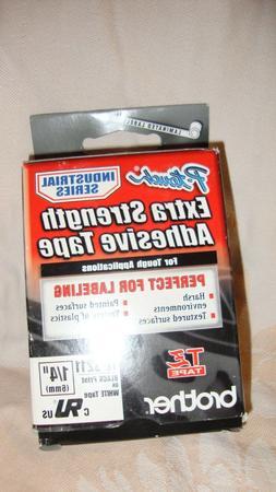 TZe Extra-Strength Adhesive Laminated Labeling Tape, 1/4w, B