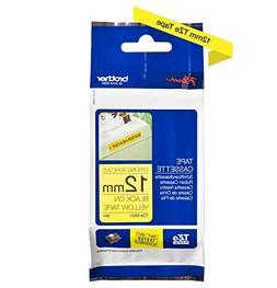 Tzes631 1/2in Black On Yellow Extra Strength F/ Tz Based Mac