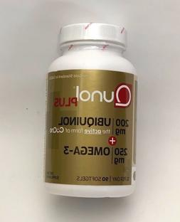 Qunol Ubiquinol + Omega 3 Plus CoQ10 200mg, Extra Strength U