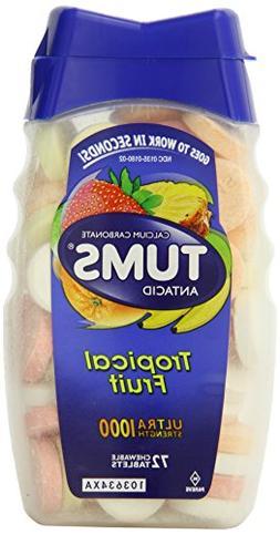 Tums Ultra Strength 1000 Assorted Tropical Fruit Antacid/Cal