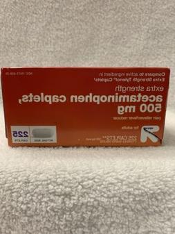 Up&Up Extra Strength Acetaminophen 500mg 225ct Exp 12/2022
