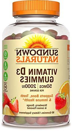 Sundown Naturals® Vitamin D3 2000 IU, 90 Gummies