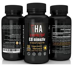 Vitamin D3 5000 IU 60 Softgels - Extra Strength Vitamin D Su