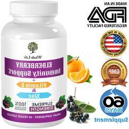 Wild Elderberry Daily Immune Booster Supplement With Vitamin