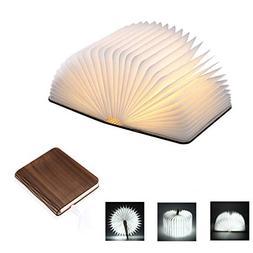Idearsen Wooden Folding Book Light 500 lumens Up to 8 Hours